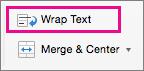 Pe fila pornire, selectați încadrare Text