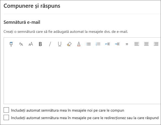 Crearea unei semnături de e-mail în Outlook pe web