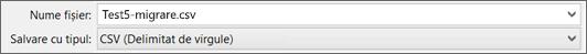 Afișează opțiunea Salvare ca CSV în Excel