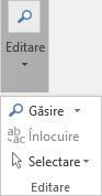Alegeți Formatare text, apoi Editare pentru a deschide lista verticală