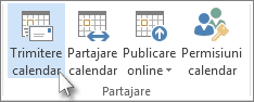 Trimiterea calendarului prin e-mail