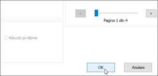 Faceți clic pe OK pentru a imprima