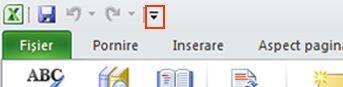 Comanda Vorbire pe bara de instrumente Acces rapid din Excel