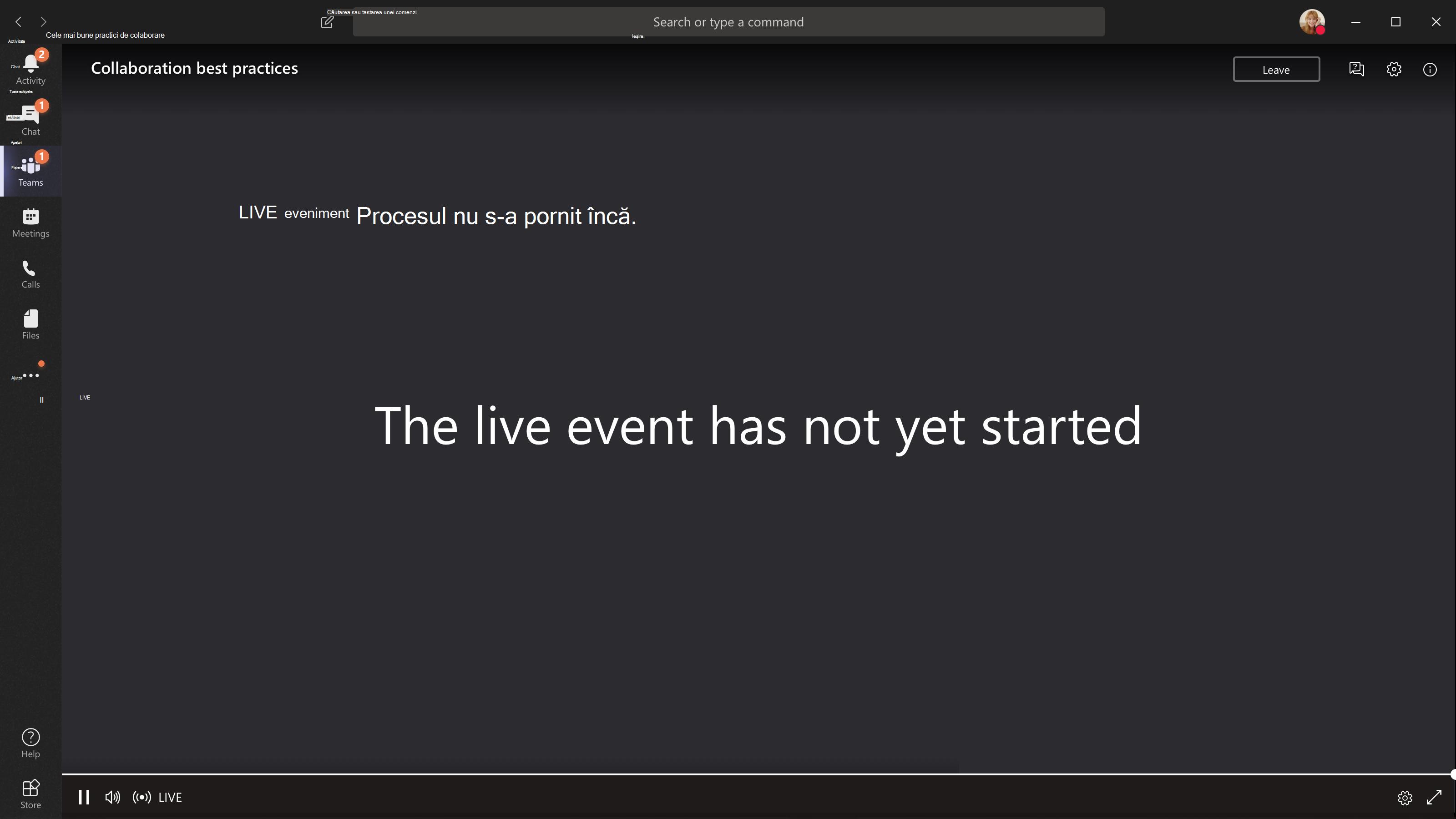 Eveniment nu a început