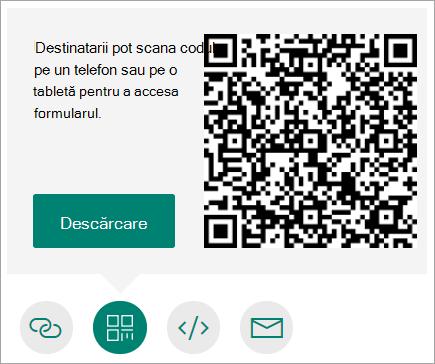 Trimiterea unui cod QR pe telefon, pe care destinatarii îl pot scana pe un telefon sau pe o tabletă
