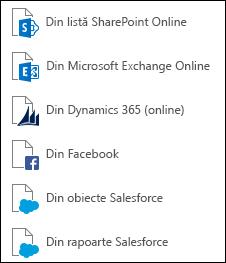 Preluarea datelor din Online Services