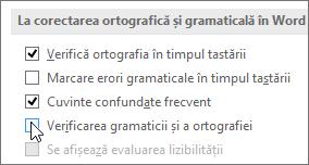 Casetele de selectare Gramatică