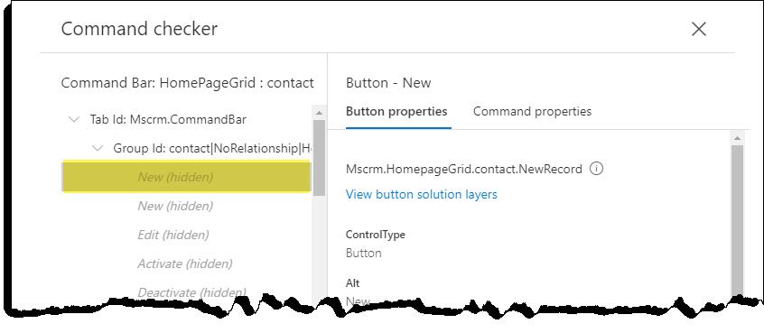 Verificatorul de comenzi-contactați-butonul nou