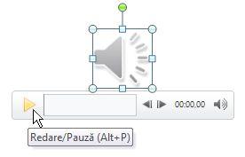 Redarea secvenței audio