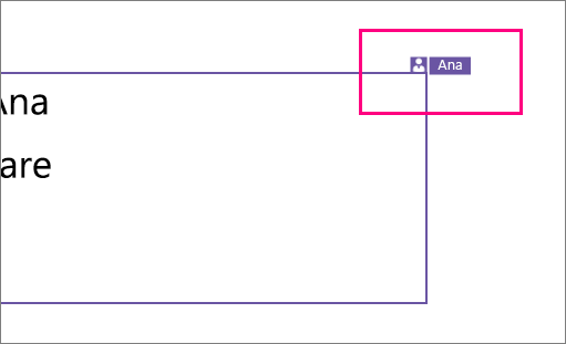 Afișează o pictogramă care arată o persoană care lucrează la o secțiune a unui diapozitiv în PowerPoint 2016 pentru Windows