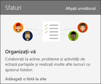Sfaturi de utilizare a site-ul Online SharePoint
