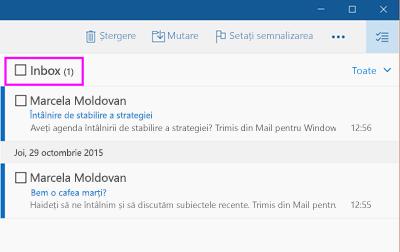 Selectați toate mesajele dintr-un folder