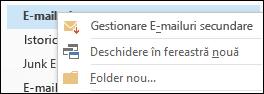 Gestionare E-mailuri secundare