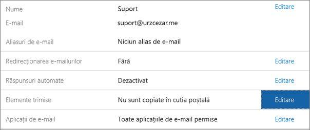 Alegeți Elemente trimise > Editare.