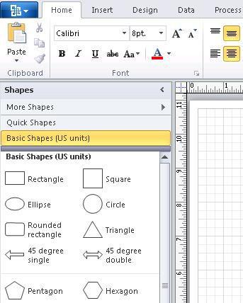Basic Shapes stencil