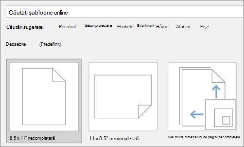 Tastați în caseta căutați șabloane online