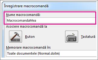 Caseta Nume macrocomandă