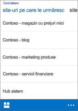 iOS următoarele site-uri