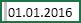 Celulă cu spațiu selectat înainte de 01.01.2016