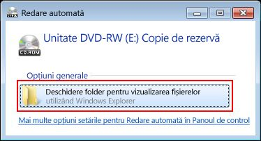 Click Open folder to view files.