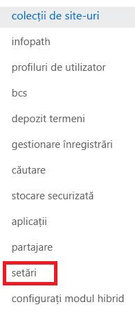 Captură de ecran a panoului de activități colecții de site-ul