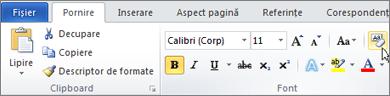 Pe fila pornire, faceți clic pe Anulare formatare.