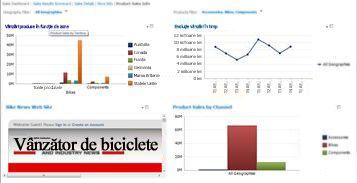 Tablou de bord PerformancePoint cu 2 filtre aplicate