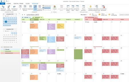 Exemple de calendare în modurile alăturat și suprapus