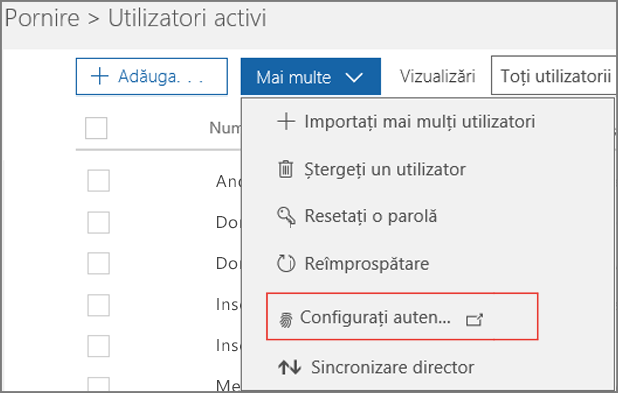 Configurarea Multi-Factor Authentication