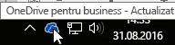 pictogramă în bara de activități onedrive pentru business