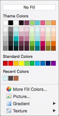 Opțiunile pentru culori