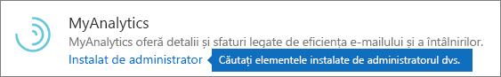 Un program de completare instalat de un administrator din magazinul Outlook.