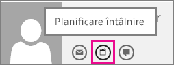 Butonul Planificare întâlnire din Outlook Web App