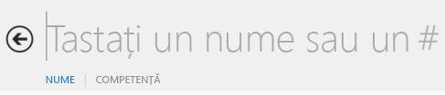 Captură de ecran cu caseta text de căutare Lync