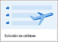 Șablon listă solicitări de călătorie