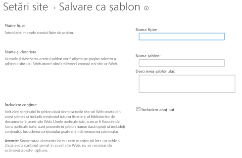 Save As Template dialog box