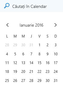 Caseta de căutare Calendar