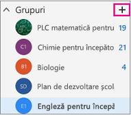 Panoul de navigare din stânga din Outlook pe web cu butonul Creare evidențiat