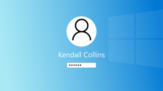 Ilustrație cu Windows de conectare