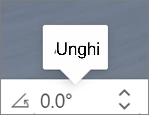 Interfața utilizator unghi