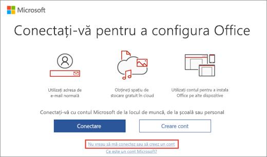 Afișează linkul pe care să faceți clic pentru a introduce cheia de produs Microsoft HUP