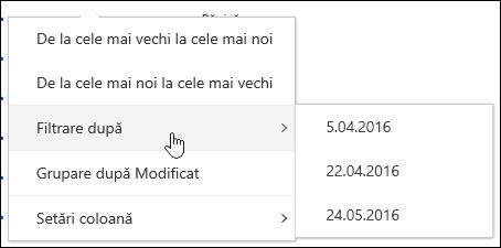 Filtrarea vizualizarea bibliotecă de documente în Office 365