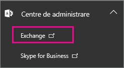 Deschideți centrul de administrare Exchange.