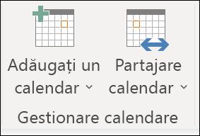 Partajarea calendarului cu altă persoană.