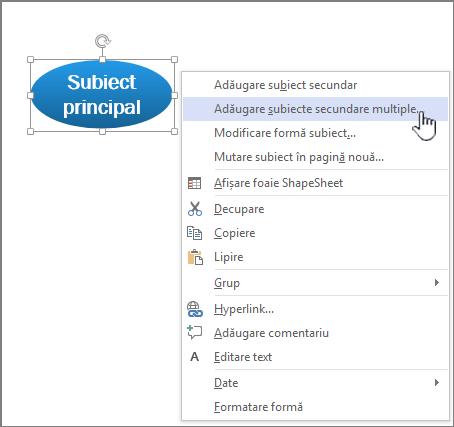 Selectați un subiect, dreapta, faceți clic pe și alegeți Adăugare mai multe subiecte