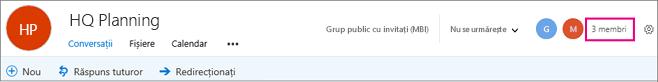 Selectați numărul de membru pentru a accesa pagina membri