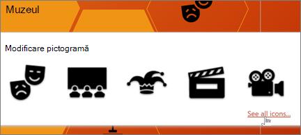 O selecție de pictograme de teatru