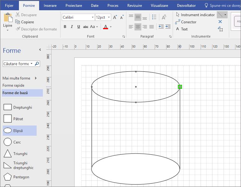 Desenați linii manual pentru a finaliza forma.