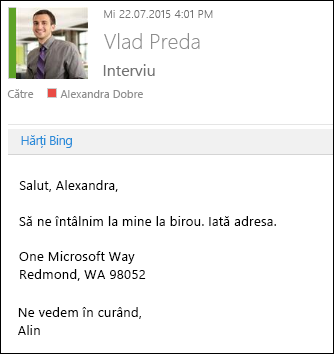 Program de completare Hărți Bing