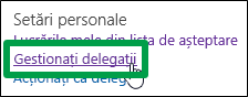 Gestionare delegați